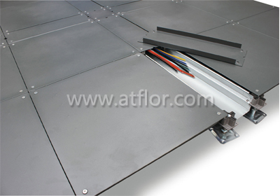 500mm Trunking Bare Steel Raised Access Floor System